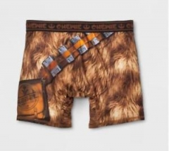 Трусы Briefly Stated Men's Boxer Briefs Brown - Star Wars Chewie Underwear Medium