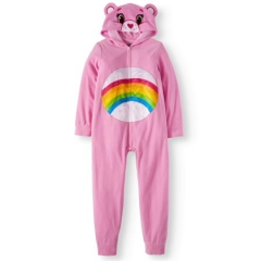 Слип флис (кугурими) Care Bears Girls' Poly 1-Piece Footless Sleeper